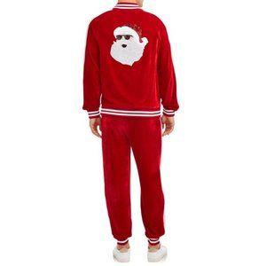 Other - NWOT Men's Velour Santa Jacket and Joggers